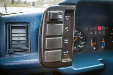 Hyundai Pony driver side controls