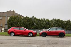 2014 Mazda3 Sport GS vs 2014 Mini Cooper