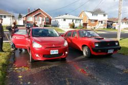 2014 Mitsubishi Mirage with a Chevette
