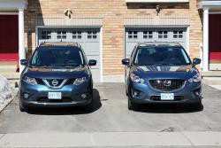 Quick Comparison: 2014 Nissan Rogue vs 2014 Mazda CX 5 mazda nissan car comparisons