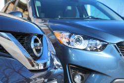 Quick Comparison: 2014 Nissan Rogue vs 2014 Mazda CX 5 nissan mazda car comparisons