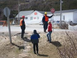Road crew near Labrador visitor centre