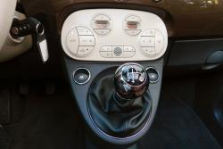2014 Fiat 500c Lounge HVAC controls & shifter