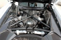 2014 Lamborghini Aventador LP 700-4 Coupe engine bay