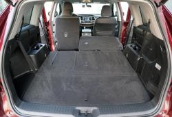 2014 Toyota Highlander LE AWD cargo area with seats folded