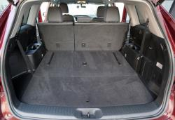 2014 Toyota Highlander LE AWD cargo area with third row folded