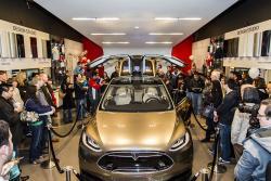 Tesla Model X at Santana Row