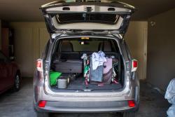 2014 Toyota Highlander LE cargo area loaded