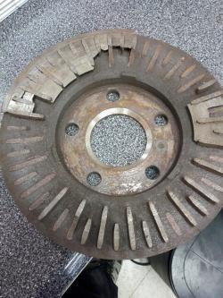 Old brake rotor