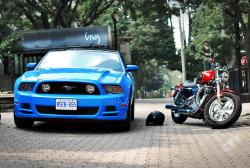 Pop Quiz: 2014 Ford Mustang GT vs Harley Sportster 1200