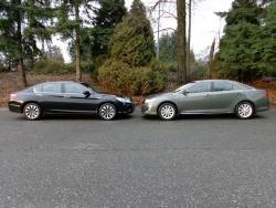 2014 Honda Accord Hybrid vs Toyota Camry Hybrid