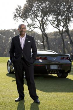 Ed Welburn with 2014 Corvette Stingray