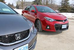 2014 Honda Civic Touring vs 2014 Toyota Corolla S