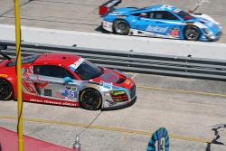 #35 (GTD), Audi R8 LMS, Flying Lizard Motorsports & #01 (P), Riley DP, Chip Ganassi Racing
