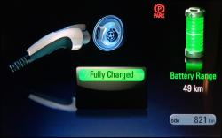 2014 Chevrolet Volt instrumentation showing charge state