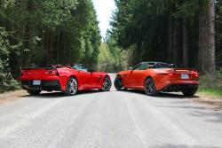 Jaguar F-Type Convertible vs Chevrolet Corvette Stingray