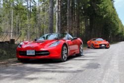 Comparison Test: 2014 Jaguar F Type Convertible vs 2014 Chevrolet Corvette Stingray Convertible luxury cars jaguar chevrolet car comparisons