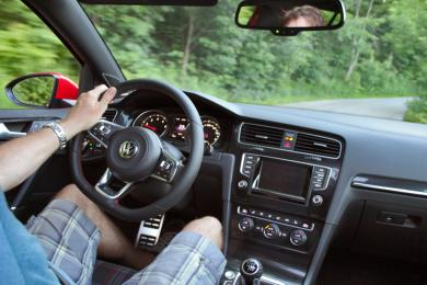2015 Volkswagen GTI drivers view