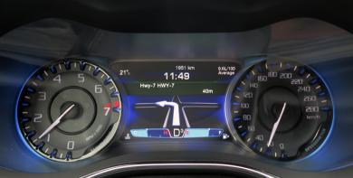2015 Chrysler 200S 3.6 AWD gauges