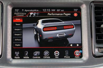 2015 Dodge Challenger Hellcat performance app