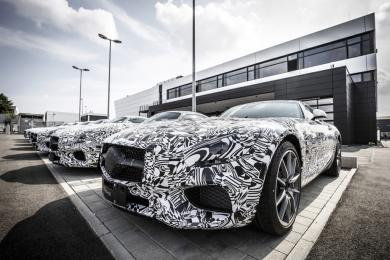 2016 Mercedes-AMG GT camouflaged test vehicles