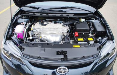 2015 Scion tC engine bay