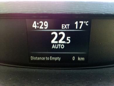 2015 Toyota Venza AWD Limited HVAC display
