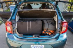 2015 Nissan Micra SR loaded with cargo