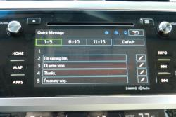 Subaru Starlink Quick Message presets