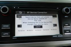Subaru Starlink Bluetooth pairing screen