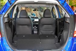 2015 Honda Fit cargo area with rear seats folded