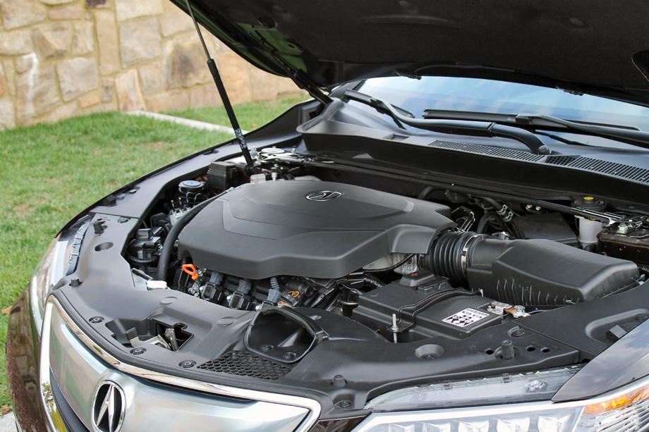 2015 Acura TLX engine bay