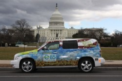 Chevrolet HHR powered by waste paper biofuel
