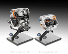 GM's current (left) and next-generation fuel cells