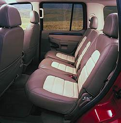 2002 Ford Explorer interior