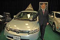 Honda Canada's Jim Miller with AJAC Car of the Year Alternative Fuel