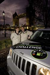 Helen and John Taylor with a Jeep Patriot diesel