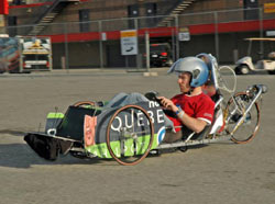 A Canadian competitor in the Shell Eco-Marathon