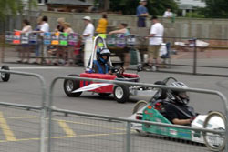 Students race electric-powered race cars