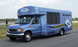 Hydrogen-powered Ford bus