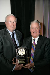 Dick Colliver accepts the JD Power award