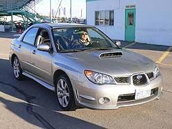 Autos Editor Greg Wilson driving 2006 Subaru WRX