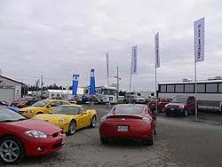 2006 Mitsubishi Eclipse GT, 2006 Chevrolet Corvette Z06