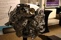 A cutaway model of the 6.0-litre V8
