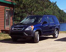 First Drive: 2002 Honda CR V honda first drives