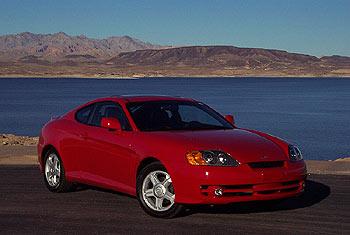 First Drive 2003 Hyundai Tiburon 2 7 Litre V6 Autos Ca