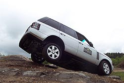 Range Rover on two wheels