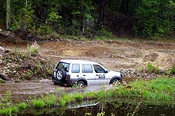 This stream proved to be no problem for the Freelander