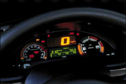 2001 Honda Insight guages