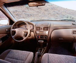 2001 Nissan Sentra Dash